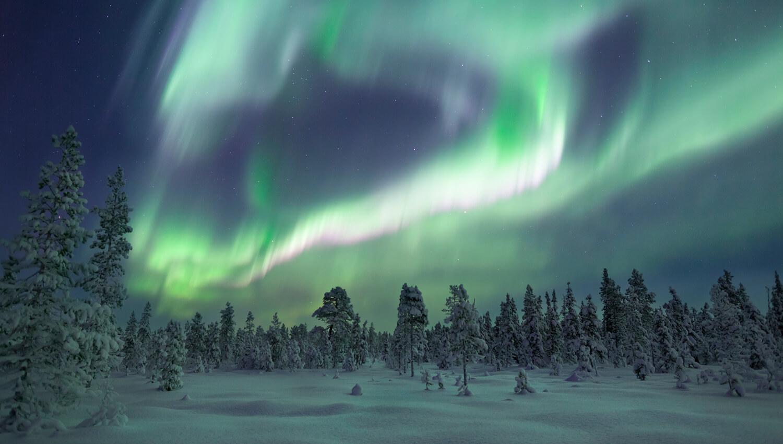 Polarlichter in Nordschweden