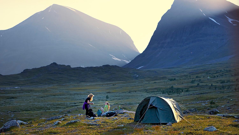 In Schweden gilt auch für Wanderer das sogenannte Jedermannsrecht