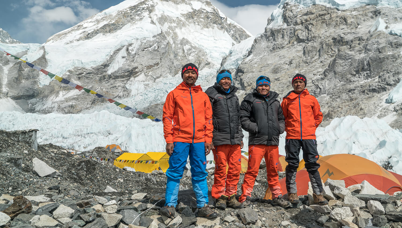Die vier nepalesischen Sherpas waren die idealen Team-Mitglieder für #project360