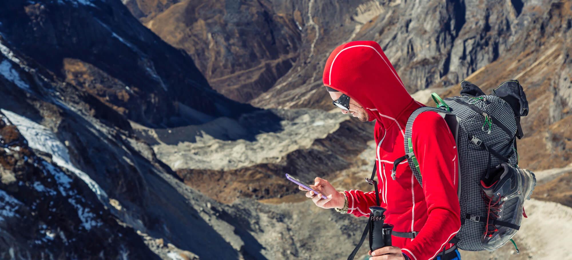Alpiner Notfur in den Bergen