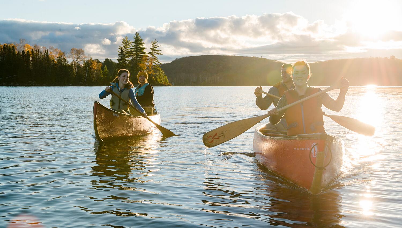 Wassersportler kommen im Algonquin-Provinzpark auf ihre Kosten