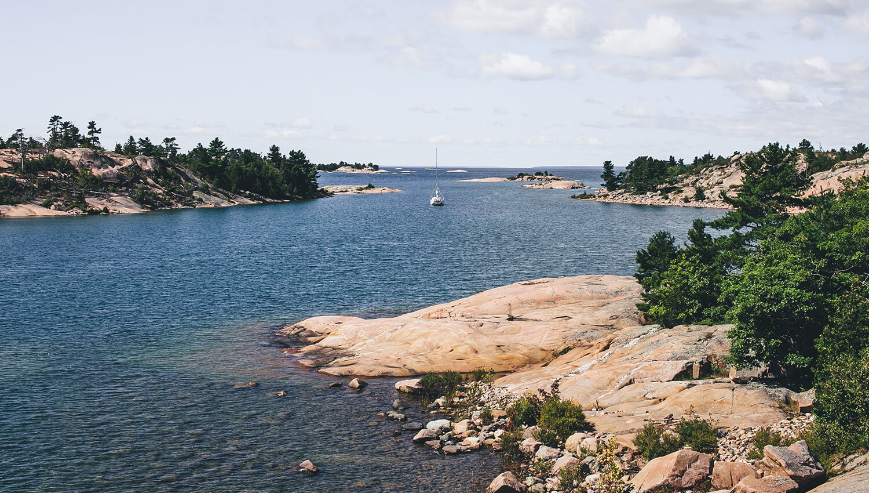 Die malerischen Fox Islands sind Teil der Georgian Bay