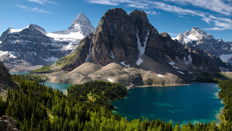 Der Blick auf den Mount-Assiniboine-Provinzpark