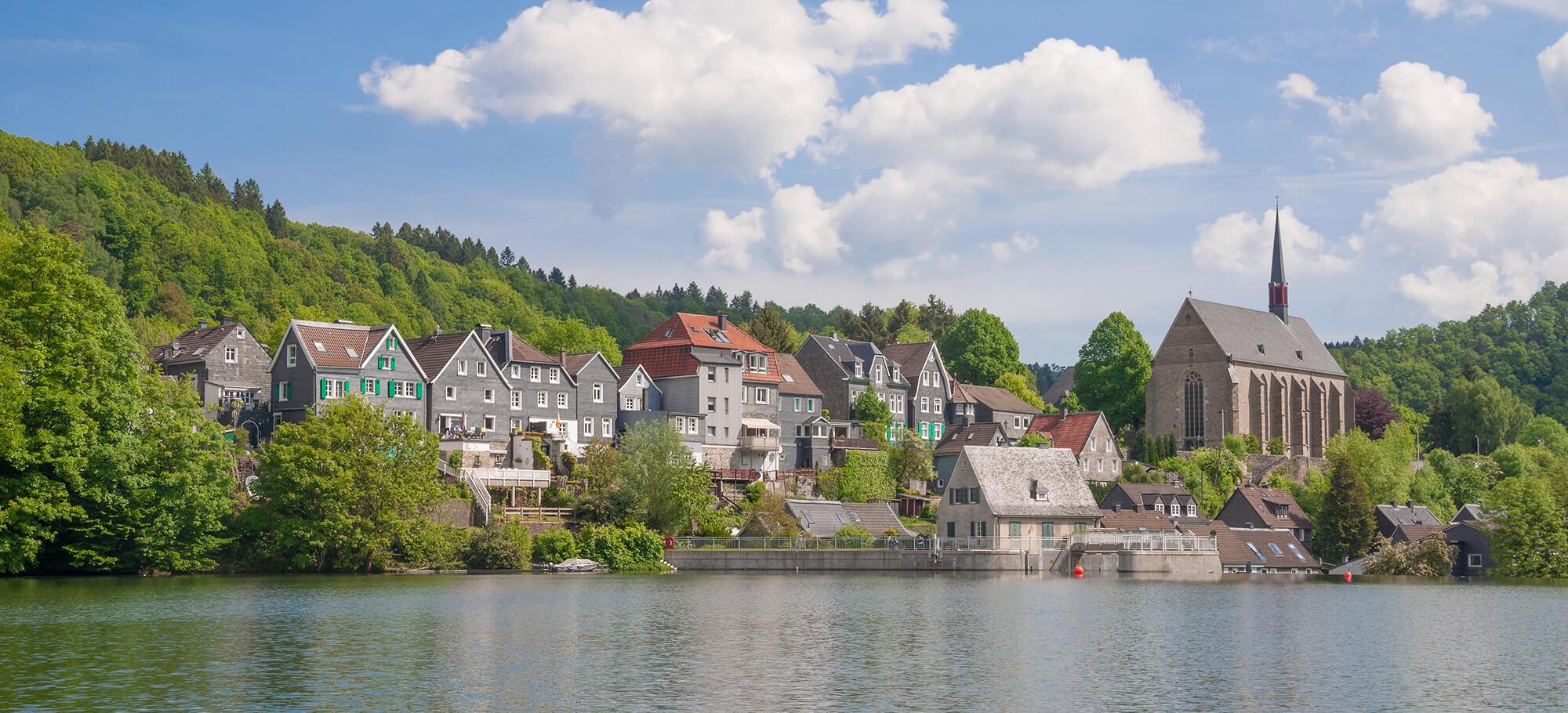 Die Altstadt von Wuppertal-Beyenburg an der Wupper