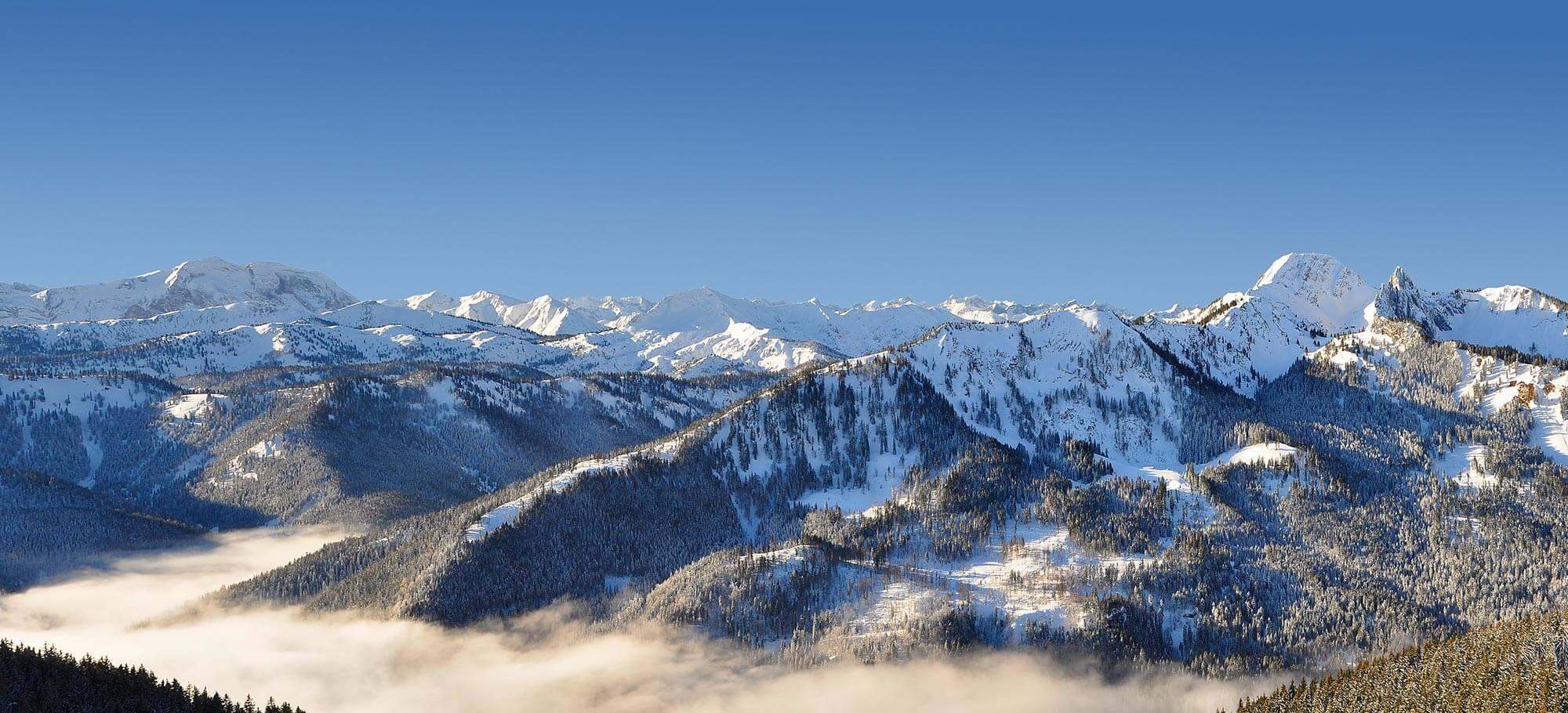 Panoramablick vom Rosskopf am Spitzing