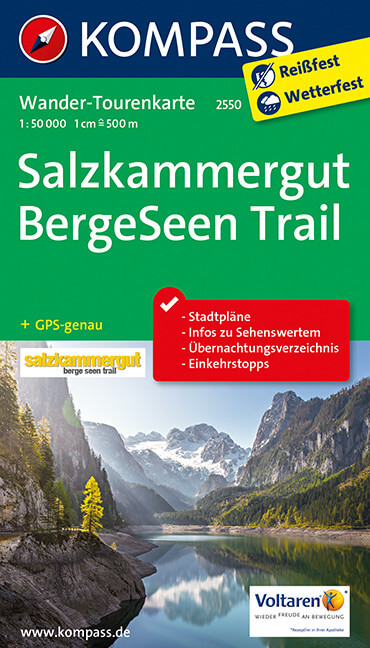 Salzkammergut BergeSeen Trail Wanderführer KOMPASS