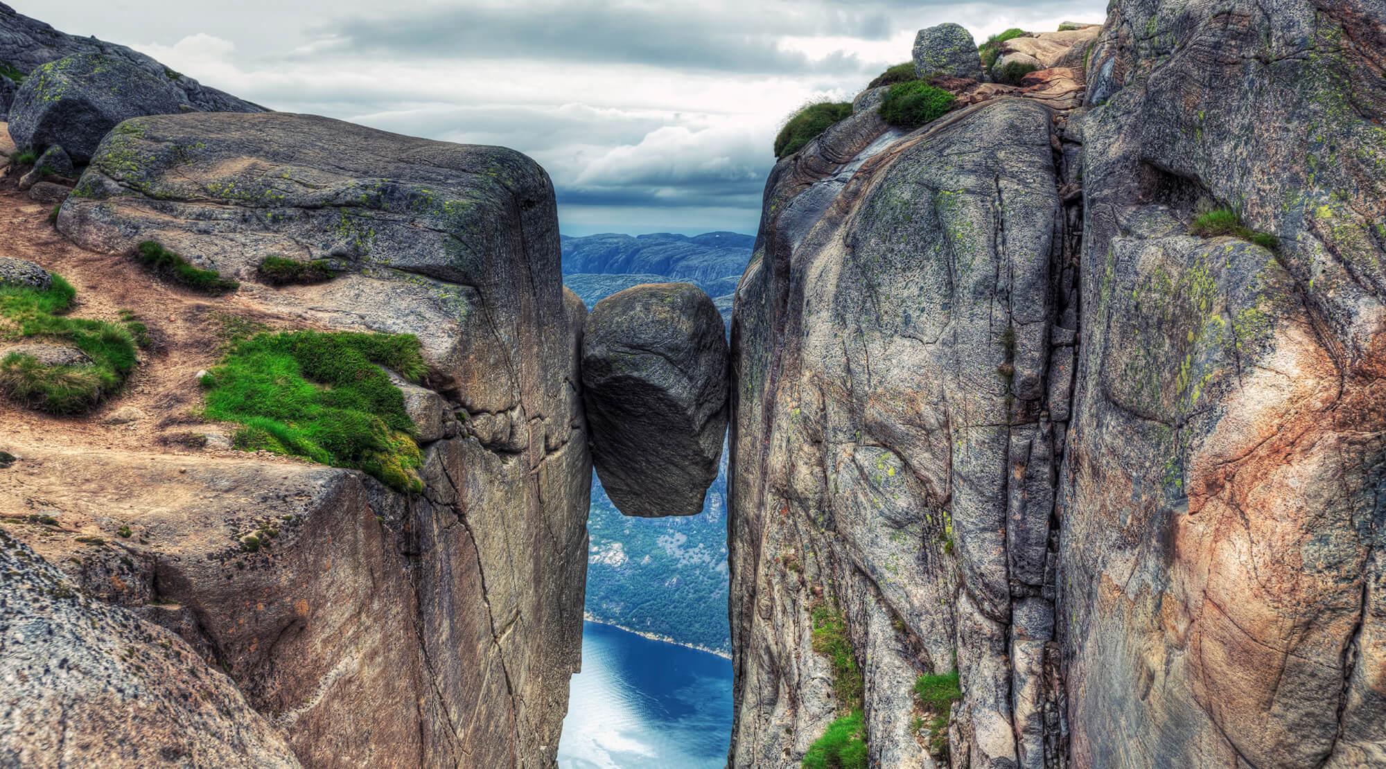 Kjeragbolten in Norwegen