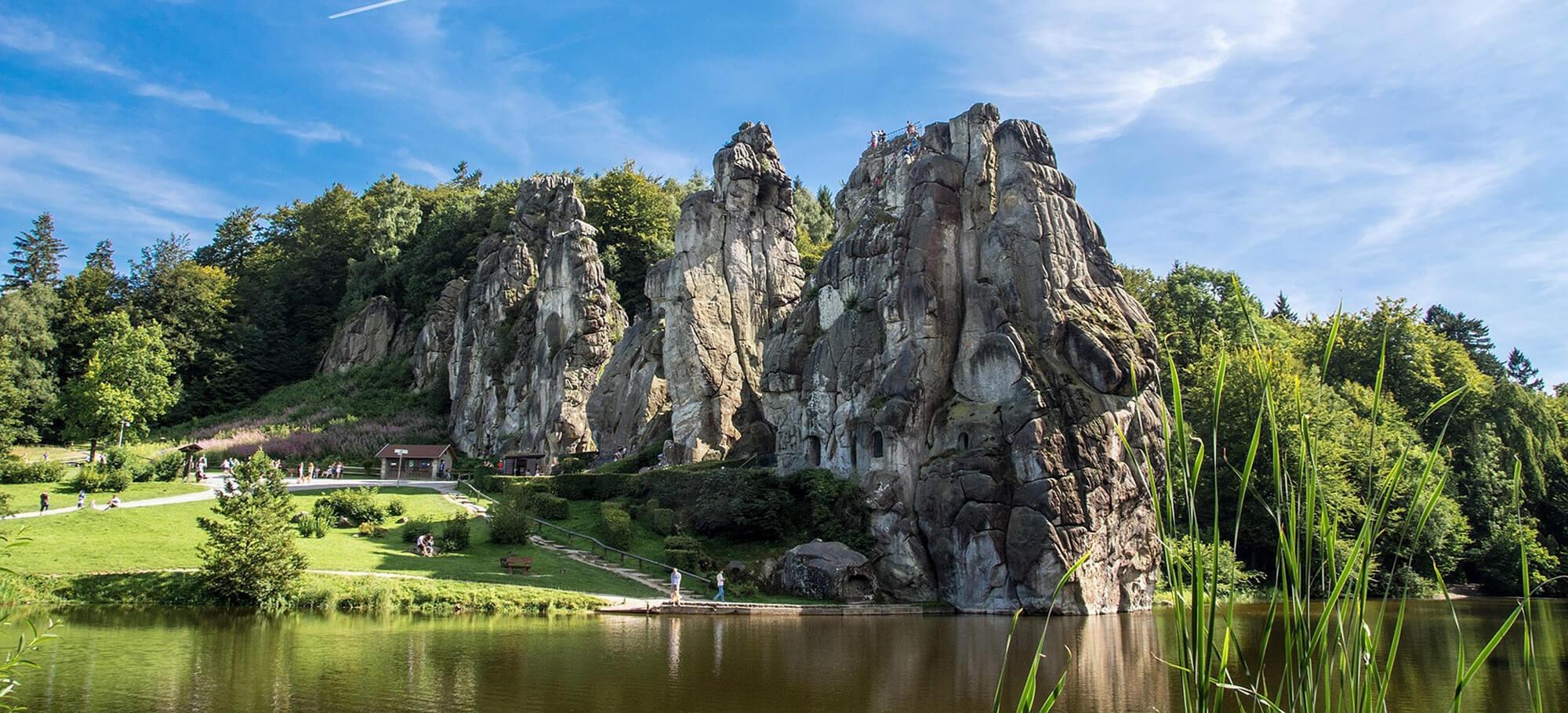 Externsteine Teutoburger Wald Mittelgebirge Deutschland