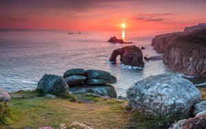 Stimmungsbild für dem Wanderführer Cornwall von KOMPASS