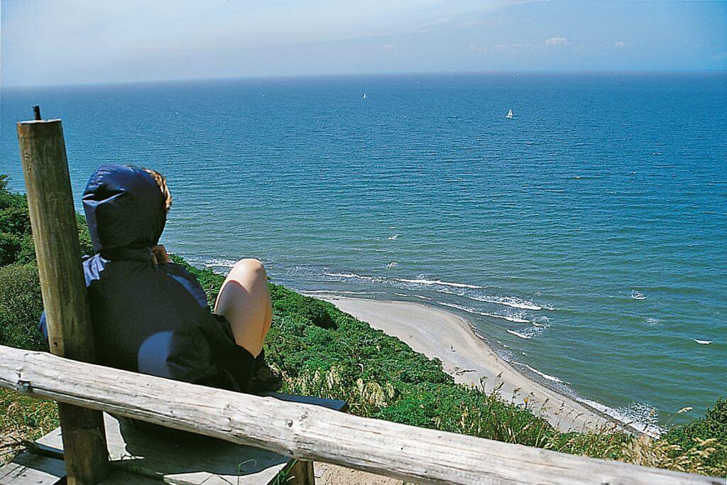 Ausblick über die Küste von Dornbusch