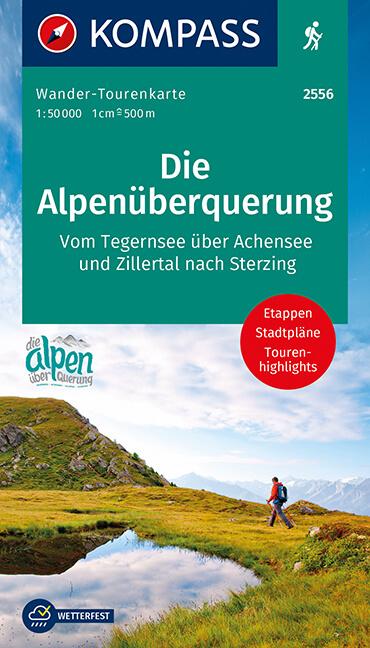 Die Alpenüberquerung Wander-Tourenkarte