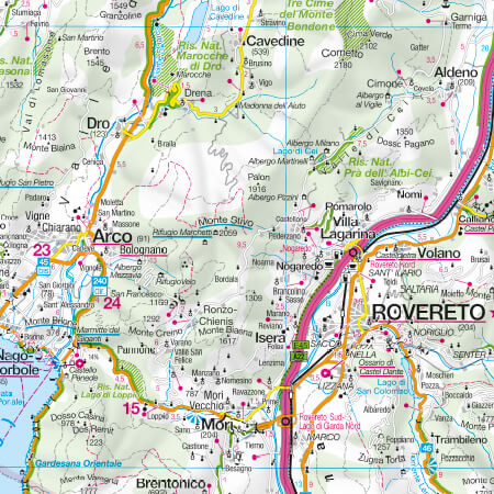 Autokarte Trentino