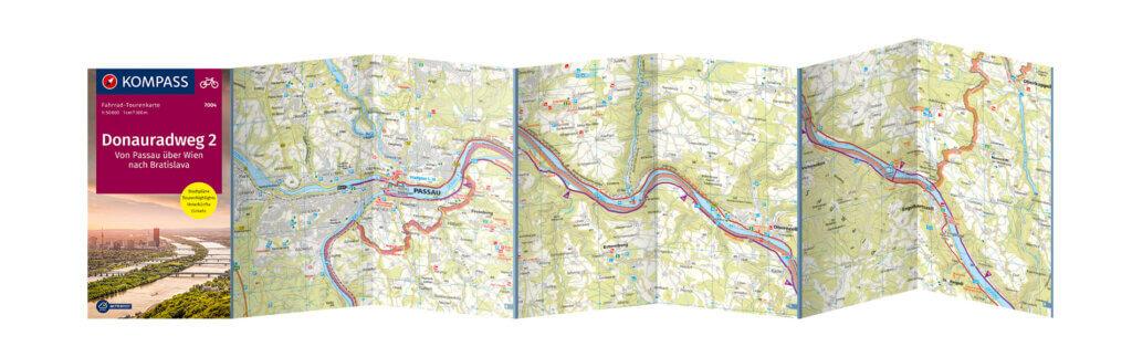 Donaurradweg Fahrradtourenkarte