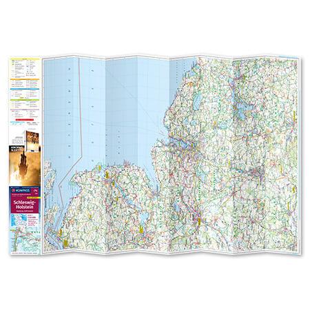 Fahrradkarte Großraum Karte ausgebreitet Tourenkarte