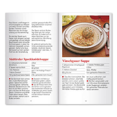Kochbuch Innenansicht Rezepte