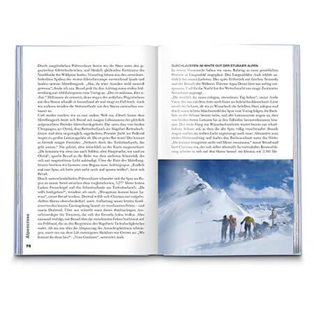 Aus eigener Kraft Wanderbuch Innenansicht
