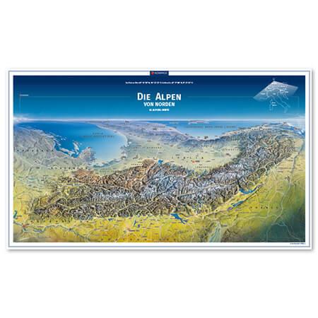 Alpen Panorama Die Alpen von Norden
