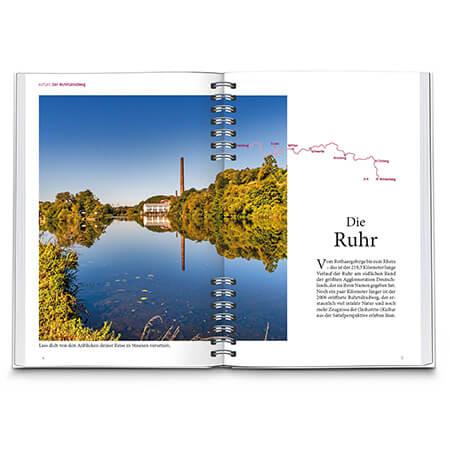 Radreiseführer Innenseite Fahrradführer Ruhrtalradweg