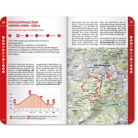 Wanderführer Innenseite Tourenbeschreibung