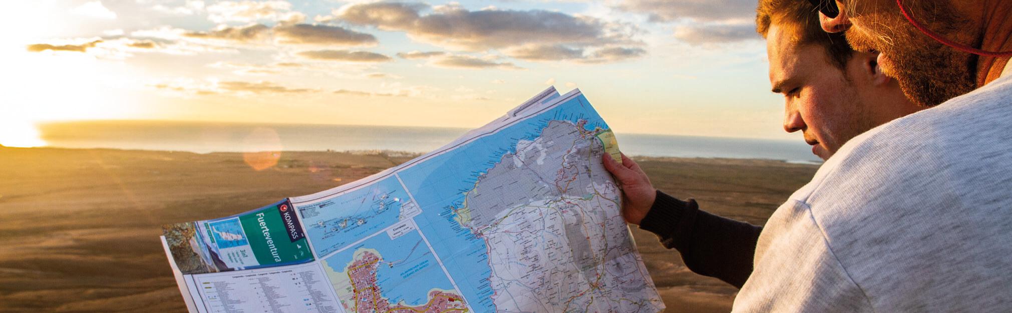 Wanderkarte auf Fuerteventura