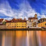 Donau durch Regensburg