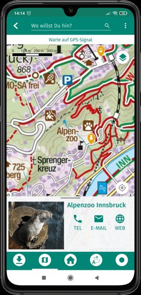 App Screenshot - Karte mit eingeblendetem POI